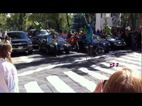 Cirque Du Soleil en las calles de la Condesa WOW!!!