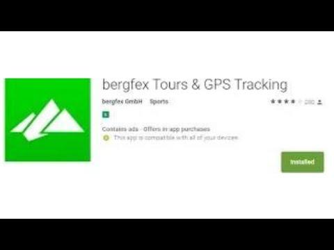 review - bergfex Tours & GPS Tracking - app em alemão mas pode setar para inglês - aprovado !