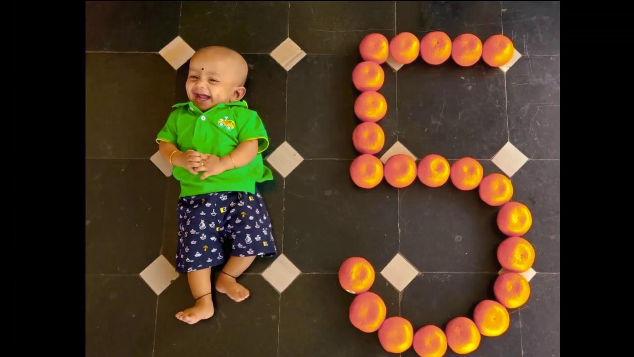 Gautham Monthly Milestone Monthly Birthday Photoshoot Diy Monthly Photoshoot Monthly Birthday Youtube