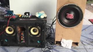 แอมป์มอไซค์ NP sound Amp crossover sub 50w*2 + tone 50w*2 @4ch