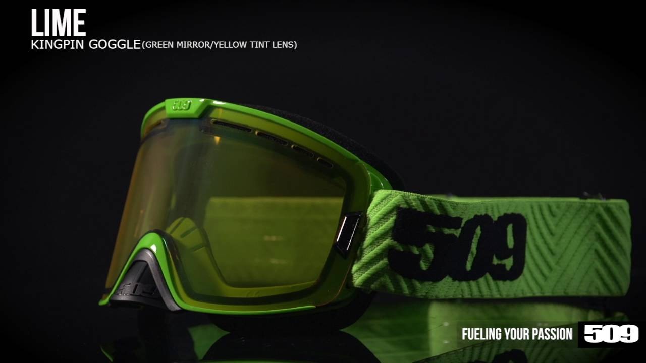 22fef7e94f1 509 Kingpin Snow Goggle - Lime - YouTube