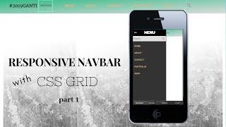 Responsive Navbar HTMLdan CSS only CSS Grid part 2