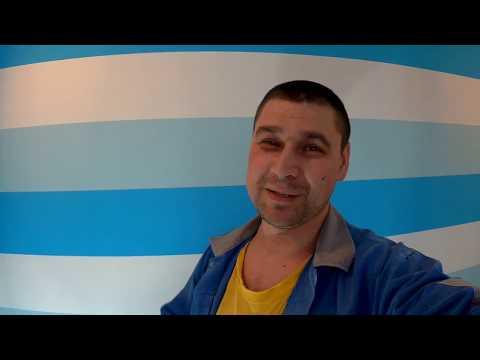 Покраска стен в  цветную полоску - Детская комната