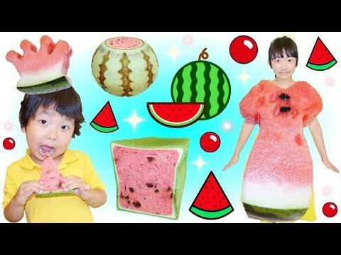 ★すいか祭り開催!「スイカドレス&スイカパンetc…」★Watermelon dress&bread★