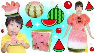 ★すいか祭り開催!「スイカドレス&スイカパンetc…」★Watermelon dress&bread★ thumbnail
