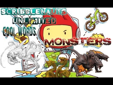 Scribblenauts Unlimited - COOL WORDS - MONSTERS |
