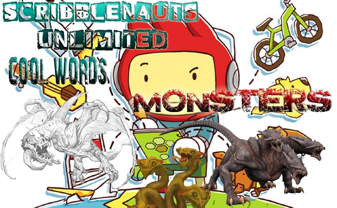 Scribblenauts Unlimited - COOL WORDS - MONSTERS