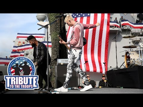 "Machine Gun Kelly Performs ""Let You Go"": WWE Tribute To The Troops"