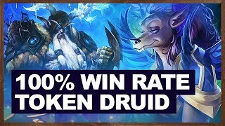 100% Win Rate New Token Druid (10-0) | Hearthstone The Witchwood