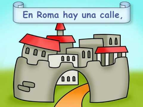 "Traditional Spanish Poem: ""La llave de Roma"" - Calico Spanish Songs for Kids"