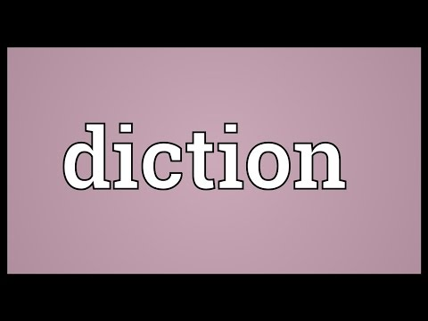 Diction Meaning