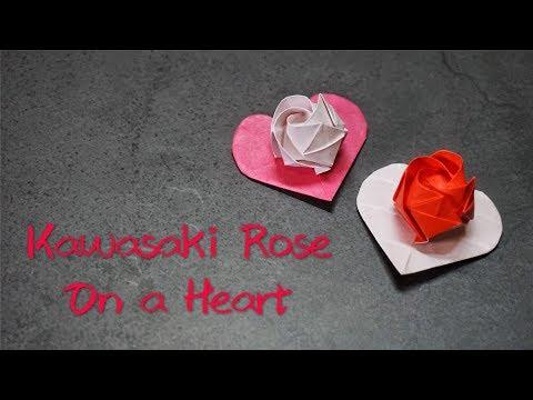 Origami Tutorial: Kawasaki Rose on a Heart|Hello Malinda