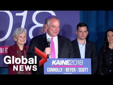Midterm Elections: Democrat Tim Kaine of Virginia re-elected to the U.S. Senate