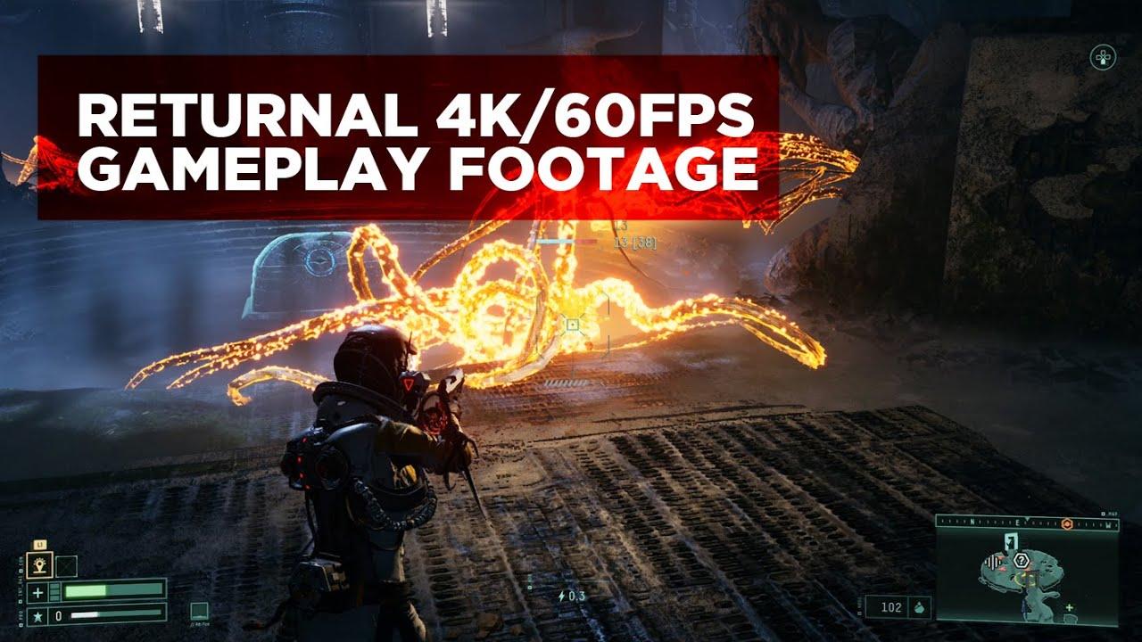 Returnal Gameplay Footage 4K 60 FPS No Commentary - Press Start Australia