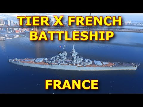 Tier X French Battleship France spotted 🥖