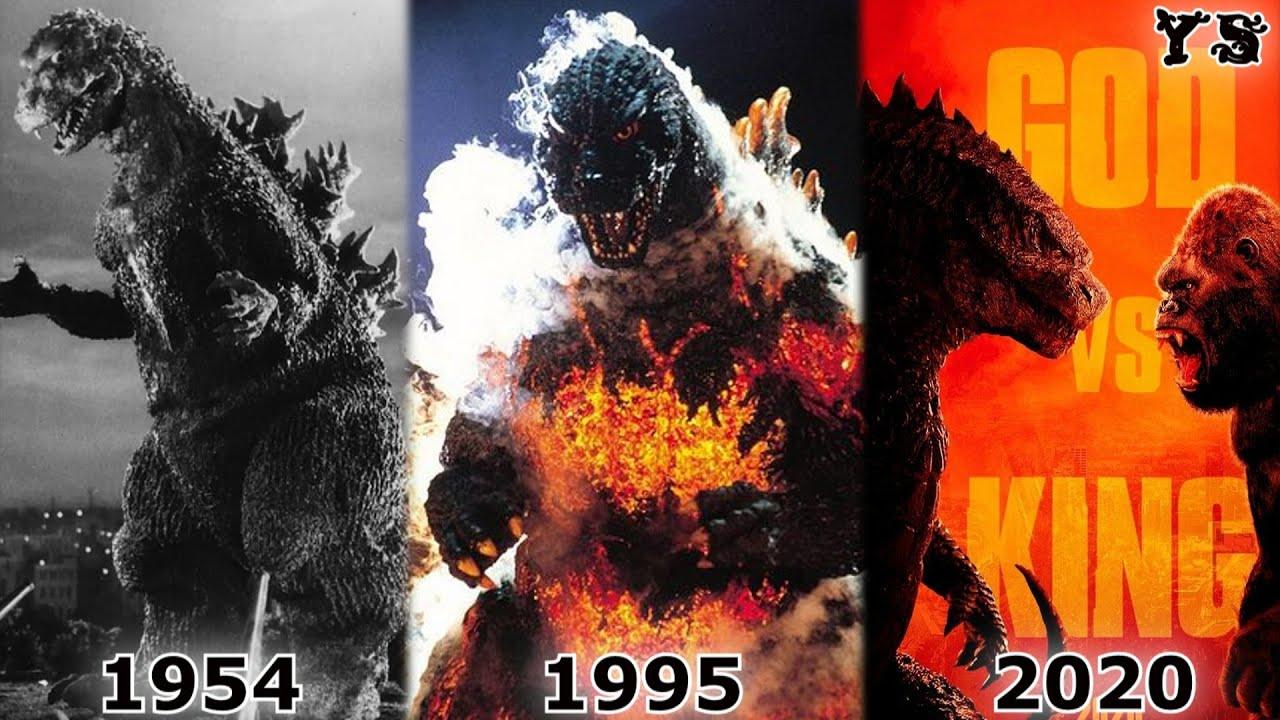 EVOLUCIÓN de GODZILLA 1954 - 2020