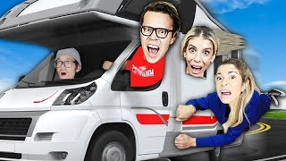 We Stole Hacker RV to Rescue Maddie! (Spending 24 HOURS Overnight Escaping Underground Tunnel Test)