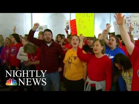 West Virginia Teacher Strike Enters Second Week With No End In Sight | NBC Nightly News