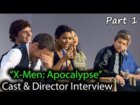 X-Men: Apocalypse Cast Interview: James McAvoy, Evan Peters, Tye Sheridan, Alexandra Shipp