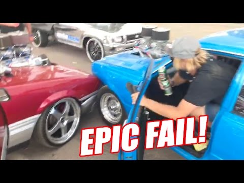 BURNOUT FAIL - AND I CAUGHT IT ON CAMERA!