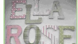 Painted Wooden Letters For Baby Room [lilolarada]