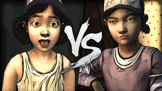 Clem VS Clem? | Walking DEAD Season 1 & 2 Clementine Comparison