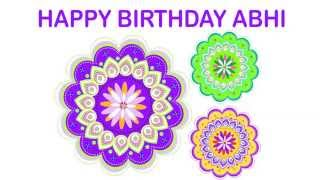 AbhiAbby   Pronounced like Abby   Indian Designs - Happy Birthday