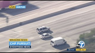 Police chases SUV driver in high-speed pursuit through Los Angeles area | ABC7