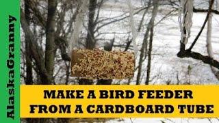 Make A Bird Feeder From Cardboard Tube