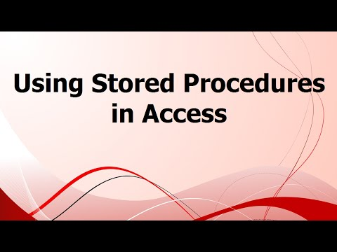 Using Stored Procedures in Access