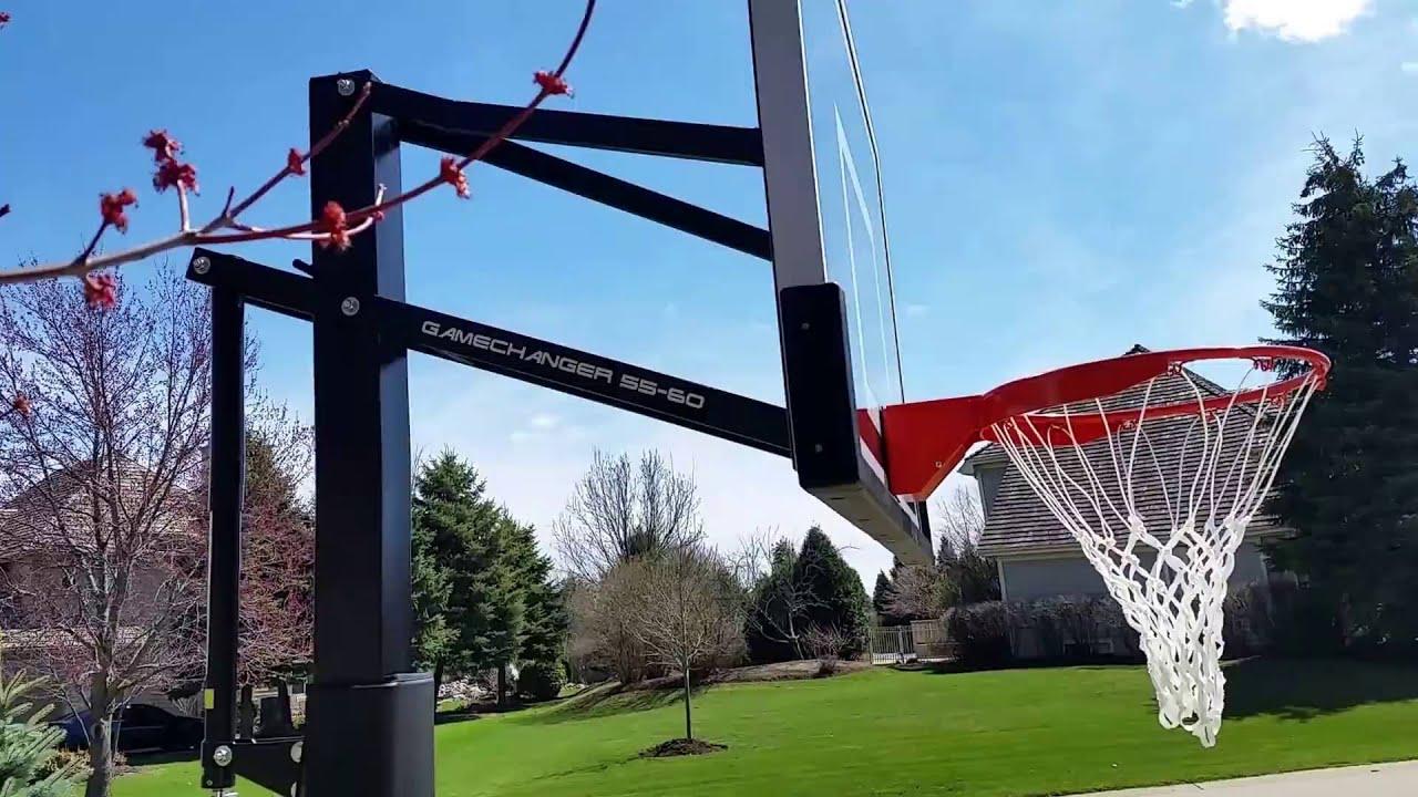 game changer adjustable inground basketball hoop - In Ground Basketball Hoop