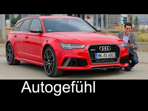 Audi RS6 Avant Performance FULL REVIEW test driven Autobahn V8 605 hp - Autogefühl