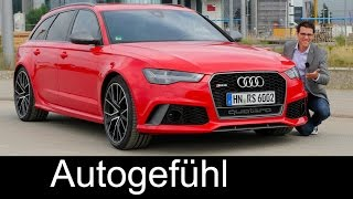 Audi RS6 Avant Performance FULL REVIEW test driven Autobahn V8 605 hp - Autogefühl