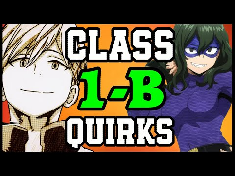 ALL CLASS 1-B QUIRKS!! - My Hero Academia Discussion | Tekking101