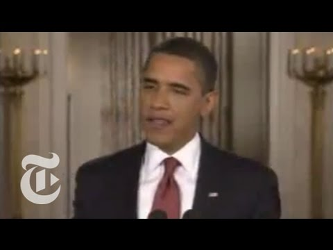 Politics: President Obama's First News Conference   The New York Times