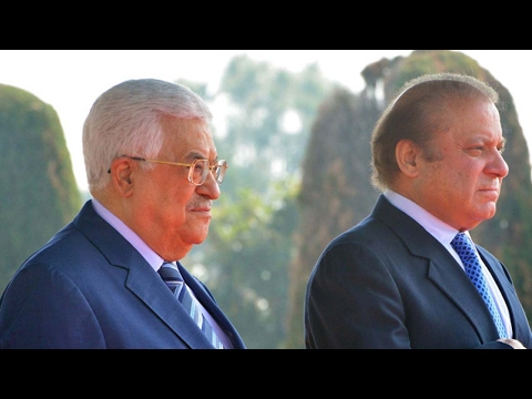 Palestinian President Abbas meets Pakistan Prime Minister Sharif in Islamabad