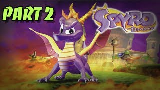 Spyro The Dragon Walkthrough Gameplay - Part 2 (Ps1)
