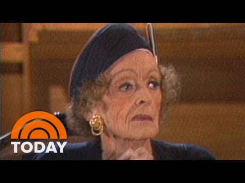 Bette Davis Talks To Bryant Gumbel About Joan Crawford In 1987   Flashback  TODAY