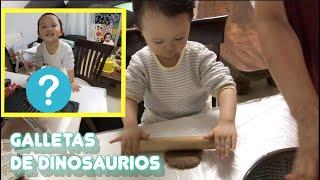 Bebé coreano hace galletas de dinosaurios con abuela l Mamá Coreana