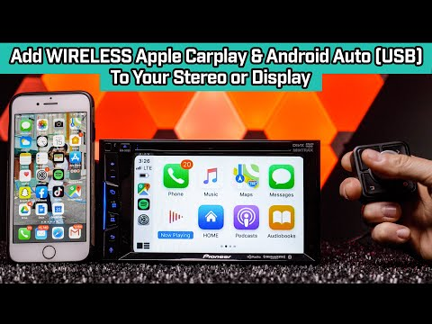 Add WIRELESS Apple Carplay & Wired Android Auto(USB Only) To Car Stereo Or Display - Cartizan CP2-11