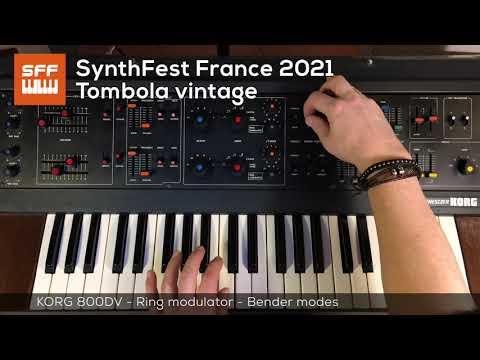 Tombola vintage Korg 800DV - 2/6 In depth | SynthFest 2021
