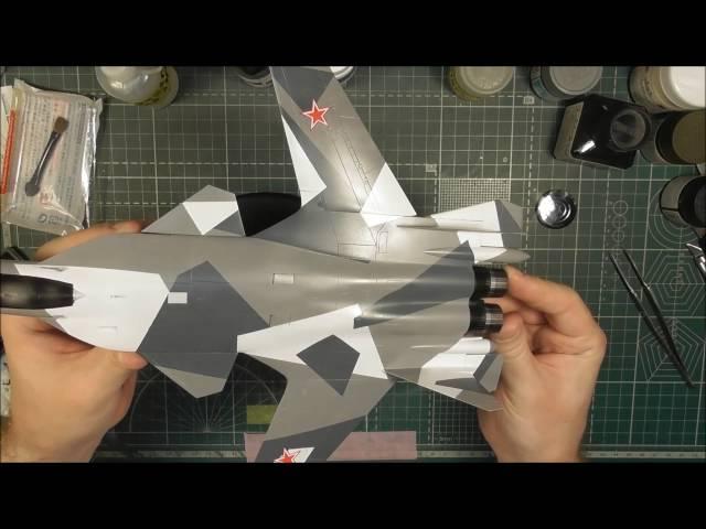 """Сборка модели  Су-47 Звезда """"Беркут"""" - шаг 6"""