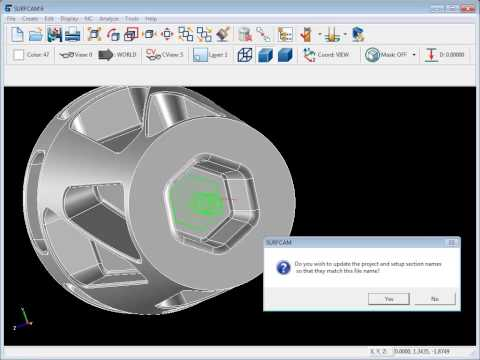 SURFCAM Tutorial - SolidWorks: Associativity