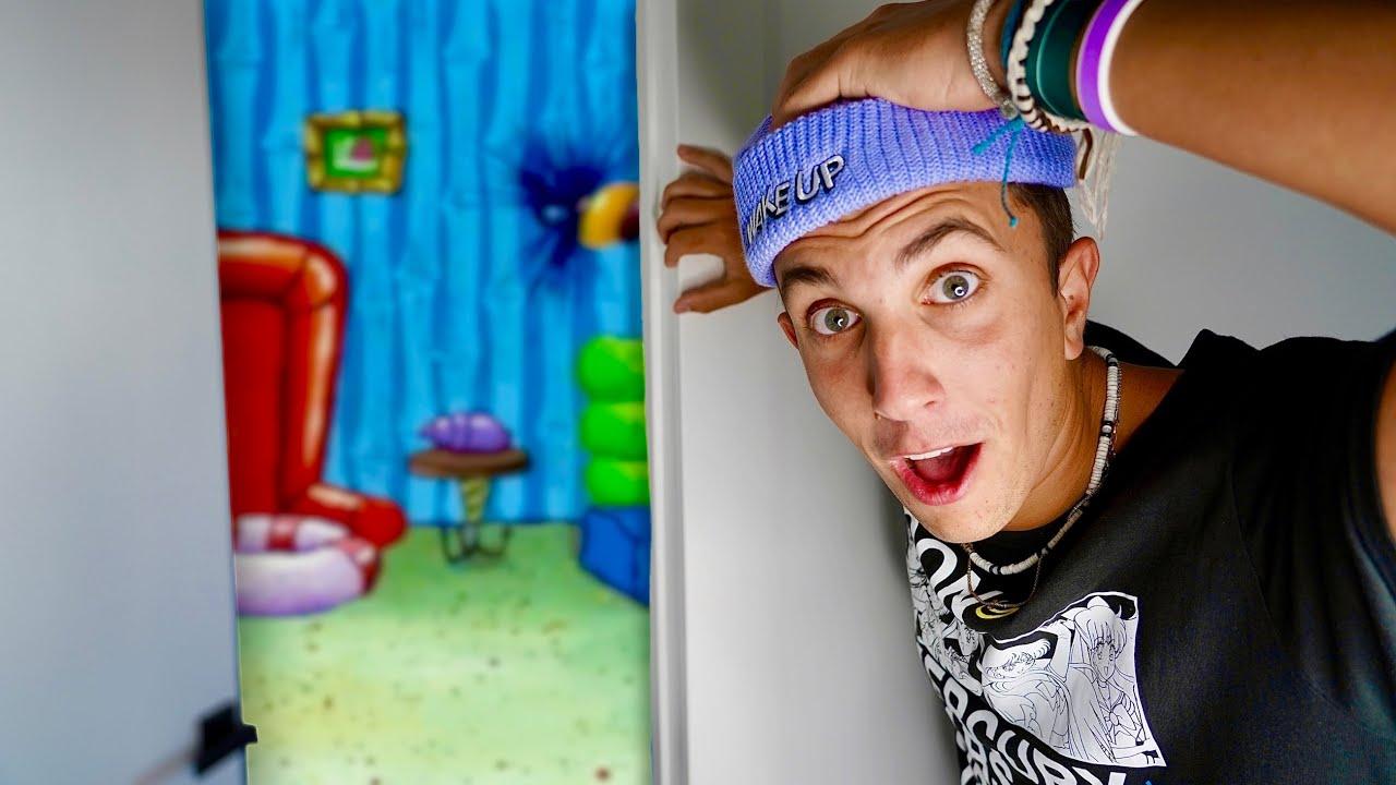 I Turned my House into SpongeBob's House…🍍🏠