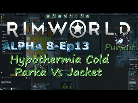 RimWorld Alpha 8-Ep13 Hypothermia Cold, Parka Vs Jacket, Snow On The Ground