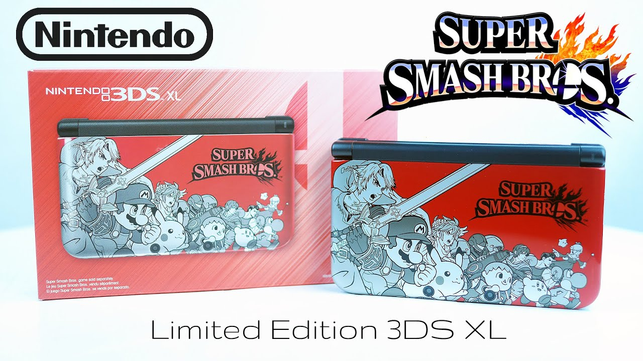 super smash bros limited edition nintendo 3ds xl unboxing. Black Bedroom Furniture Sets. Home Design Ideas