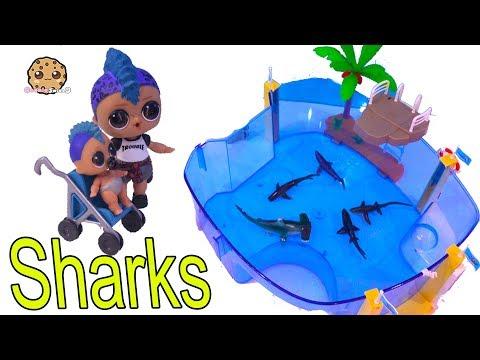 Sharks At Strange Aquarium ! LOL Surprise Punk Boi Summer Series Part 2