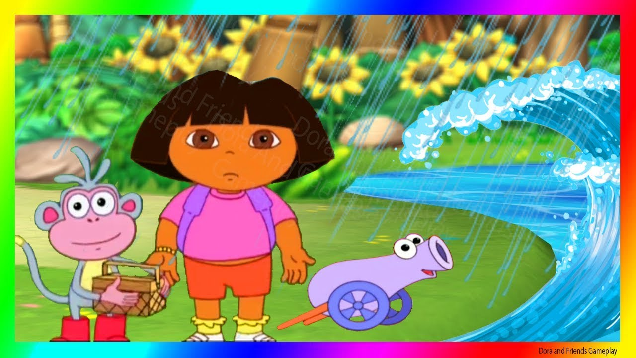 Dora The Explorer Games To Play Cartoon Rain Rain Go