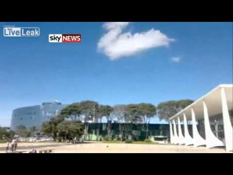 Brazil Jets' Shockwave Shatters Court Windows