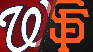 Williamson, Stratton help Giants down Nats: 4/23/18